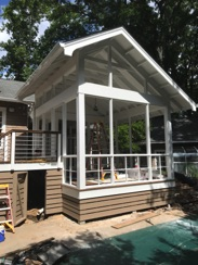 Screened Porch With Hidden Steel Frame